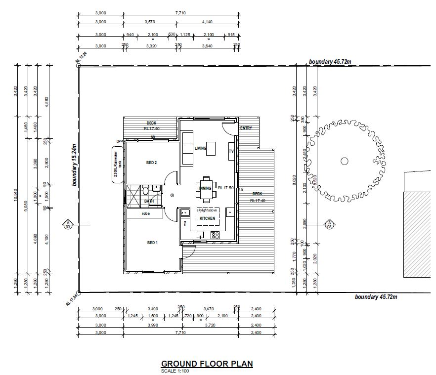 Granny flats corona projects for Floor plan granny flat